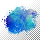 Abstract watercolor painted blot Royalty Free Stock Image