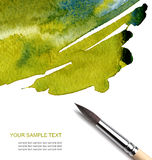 Abstract watercolor painted with brush Royalty Free Stock Photo