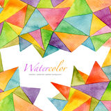 Abstract watercolor painted geometric pattern Royalty Free Stock Image