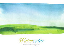 Abstract watercolor painted landscape background. Textured Stock Photography