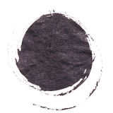 Abstract watercolor painted round background. Stock Photos