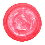 Abstract watercolor painted round dot with clipping path Royalty Free Stock Photos