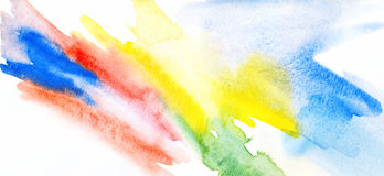 Abstract watercolor painting. Royalty Free Stock Image
