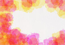 Abstract watercolor painting Royalty Free Stock Photography