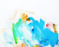 Abstract watercolor painting Stock Photography
