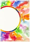 Abstract watercolor painting background Stock Photography