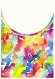Abstract watercolor painting background Royalty Free Stock Image