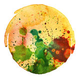 Abstract watercolor painting blot Stock Photo