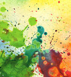 Abstract watercolor painting blot Stock Image