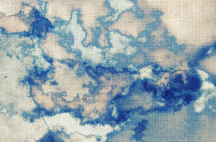 Abstract watercolor painting, clouds, sky. Abstract watercolor painting,grunge fabric texture Royalty Free Stock Photos