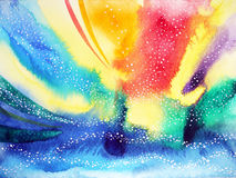 Abstract watercolor painting color colorful universe background. Illustration design hand drawn Royalty Free Stock Image