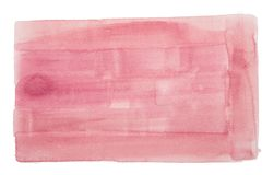 Watercolor painting on white paper royalty free stock images