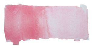Watercolor painting on white paper stock photography