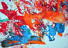Abstract watercolor painting spots, vivid background, painting abtract colors royalty free stock photography