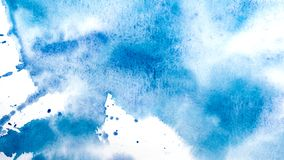Watercolor drips. Abstract painting. Background stock photo