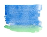 Abstract watercolor painting on white paper royalty free stock photography