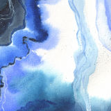 Abstract watercolor paper splash shapes  drawing. Royalty Free Stock Images