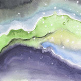 Abstract watercolor paper splash shapes isolated drawing. Royalty Free Stock Photo