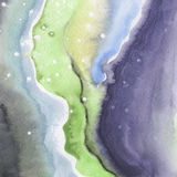 Abstract watercolor paper splash shapes isolated drawing. Stock Photo