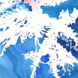 Abstract watercolor paper splash shapes isolated drawing. Royalty Free Stock Image