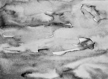 Abstract watercolor on paper texture as background. In black and Royalty Free Stock Photos