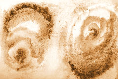 Abstract watercolor on paper texture as background. In Sepia ton Royalty Free Stock Photos