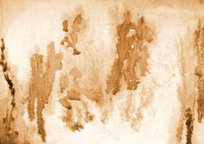 Abstract watercolor on paper texture as background. In Sepia ton Royalty Free Stock Photography