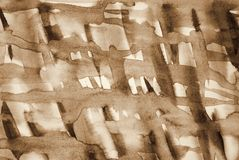 Abstract watercolor on paper texture as background. In Sepia ton Royalty Free Stock Image