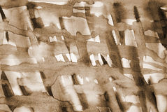 Abstract watercolor on paper texture as background. In Sepia ton Stock Photography
