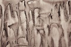 Abstract watercolor on paper texture as background. In Sepia ton Royalty Free Stock Photo