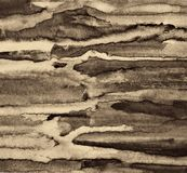 Abstract watercolor on paper texture as background. In Sepia ton Stock Photos