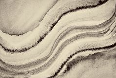 Abstract watercolor on paper texture as background. In Sepia ton royalty free stock images