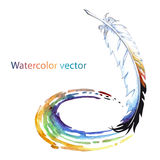 Abstract watercolor pen. For creativity on a white background stock illustration