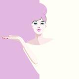 Abstract watercolor portrait woman model, fashion art, beauty Royalty Free Stock Photo