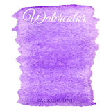 Abstract watercolor purple hand drawn background Stock Photo