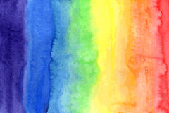 Abstract watercolor rainbow colors background. Color spectrum Stock Photo