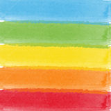 Abstract watercolor rainbow colors background Stock Photos