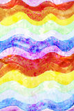 Abstract watercolor rainbow floral wave background Royalty Free Stock Photos