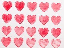 Abstract watercolor heart background. Concept love, valentine day greeting card royalty free stock photography