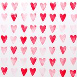 Abstract watercolor red, pink heart background. Concept love, valentine day greeting card stock photo