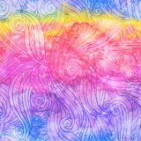 Abstract watercolor seamless hand-drawn pattern Stock Photo