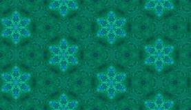 Abstract watercolor seamless pattern. Green hexagons Royalty Free Stock Image