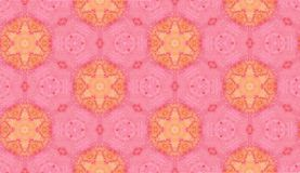 Abstract watercolor seamless pattern. Pink hexagons Royalty Free Stock Photography