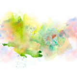 Abstract watercolor splash background. Stock Photography
