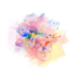 Abstract watercolor splash background. Royalty Free Stock Photography