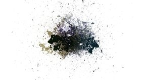 Abstract dark background. Paint texture. Abstract watercolor splashes. Art black brush stock illustration