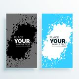 Abstract watercolor splash banners set. Illustration Stock Images