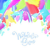 Abstract watercolor splash design element Stock Image