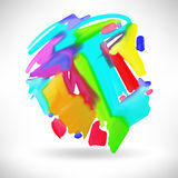 Abstract watercolor splash design element Stock Photo