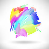 Abstract watercolor splash design element Royalty Free Stock Images